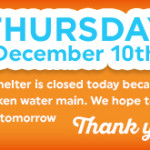 Shelter Closed - December 10th