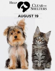AWLA - Clear the Shelters - August 19, 2017